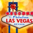 Welcome to Fabulous Las Vegas sign blurred highlights — Stock Photo