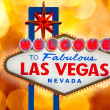 Welcome to Fabulous Las Vegas sign blurred highlights — Stock Photo #37662821