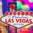Welcome to Fabulous Las Vegas sign sunset with Strip — Stock Photo #37662829