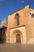 Valencia Cathedral romanesque door Puerta Palau Almoina — Stock Photo