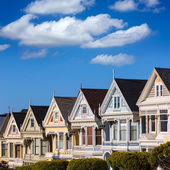 San Francisco Victorian houses in Alamo Square California — Foto Stock