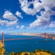Stock Photo: San Francisco Golden Gate Bridge Marin headlands California
