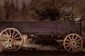 California Columbia carriage in an old Western Gold Rush Town — Stock Photo