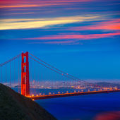 San Francisco Golden Gate Bridge sunset California — Stock Photo