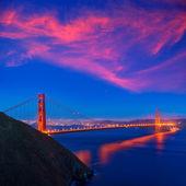 Golden gate Köprüsü san francisco günbatımı Kaliforniya — Stok fotoğraf