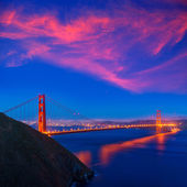 Golden Gate Bridge San Francisco sunset California — Stock Photo
