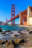 San Francisco Golden Gate Bridge Marshall beach California — Stock Photo