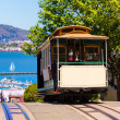 San francisco Hyde Street Cable Car California — Stock Photo