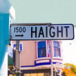 Stock Photo: SFrancisco Haight Ashbury street sign junction California
