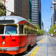 San Francisco Cable car Tram in Market Street California — Stock Photo #39035163