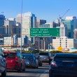 San Francisco city traffic in rush hour with downtown skyline — Foto Stock #39037885