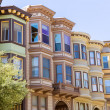 San Francisco Victorian houses California — Stock Photo