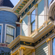 San Francisco Victorian houses near Alamo Square California — Stock Photo