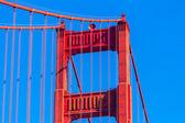 Golden Gate Bridge details in San Francisco California — Foto de Stock