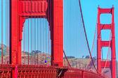Golden gate brug details in san francisco californië — Stockfoto