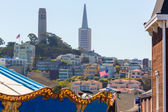 San Francisco Coit Tower from fairground California — Stock Photo