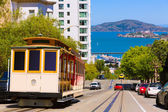San francisco Hyde Street Cable Car California — Zdjęcie stockowe