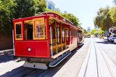 San francisco Hyde Street Cable Car California — Zdjęcie stockowe
