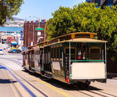 San francisco Hyde Street Cable Car California — Foto de Stock