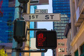 San Francisco downtown redlight on 1st street in California — Stock Photo