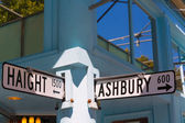 San Francisco Haight Ashbury street sign junction California — Stock Photo
