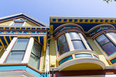 San Francisco Victorian houses in Haight Ashbury California — Foto Stock