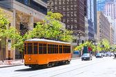 San Francisco Cable car Tram in Market Street California — Stock Photo