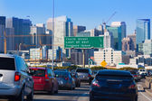 San Francisco city traffic in rush hour with downtown skyline — Stock Photo