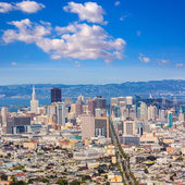 San Francisco skyline from Twin Peaks in California — Stock Photo