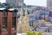 San Francisco St Peter and Paul Church at Washington Square — Zdjęcie stockowe