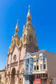 San Francisco St Peter and Paul Church at Washington Square — Foto de Stock