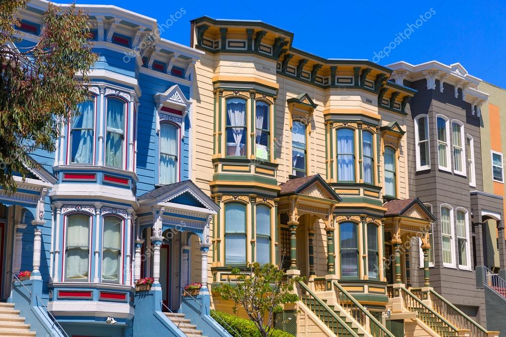 san francisco viktorianische h user in pacific heights kalifornien stockfoto lunamarina. Black Bedroom Furniture Sets. Home Design Ideas