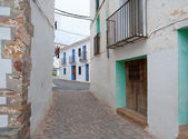 Ain village in Castellon whitewashed facades Spain — Stock Photo