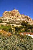 Château de santa barbara d'Alicante en Espagne — Photo