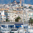Altevillage in alicante with marinboats foreground — Stok Fotoğraf #39730553