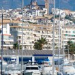 Altevillage in alicante with marinboats foreground — Foto de stock #39730553