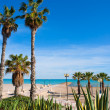 Stock Photo: Benicasim in Castellon Benicassim beach at Mediterranean