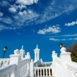 Benidorm balcon del Mediterraneo Mediterranean sea white balustr — Stock Photo