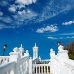 Benidorm balcon del Mediterraneo Mediterranean sea white balustr — Stock Photo