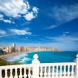 Benidorm balcon del Mediterraneo sea from white balustrade — Stock Photo #39733635