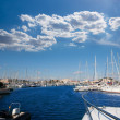 Stock Photo: DeniAlicante marinboats in blue Mediterranean