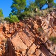 Castellon Desierto de las Palmas desert red mountains — Stock Photo #39738423