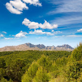 Calpe Alicante sierra de Bernia y Ferrer mountains — Stock Photo