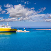 Denia Alicante cruise Ferry boat in Port in sunny day — Stock Photo