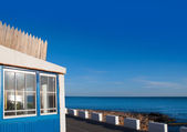 Denia Las Rotas blue house in Mediterranean sea — Stock Photo