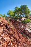 Castellon desierto de las palmas desert roten berge — Stockfoto