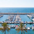 Stock Photo: MorairAlicante marinnautic port high in Mediterranean