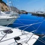 Moraira Alicante marina in Mediterranean sea — Stock Photo