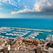 Moraira Club Nautico marina aerial view in Alicante — Stock Photo #39745577