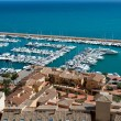 Moraira Club Nautico marina aerial view in Alicante — Stock Photo #39745733